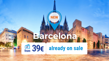 FLYONE launches a new destination - Barcelona from 39 EUR!